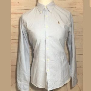 Ralph Lauren Slim Fit Button Down Top | Size 8